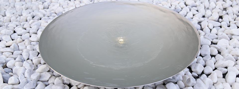 Edelstahl-Wasserschale